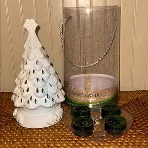 Yankee Candle Christmas tree twilight holder - NWT